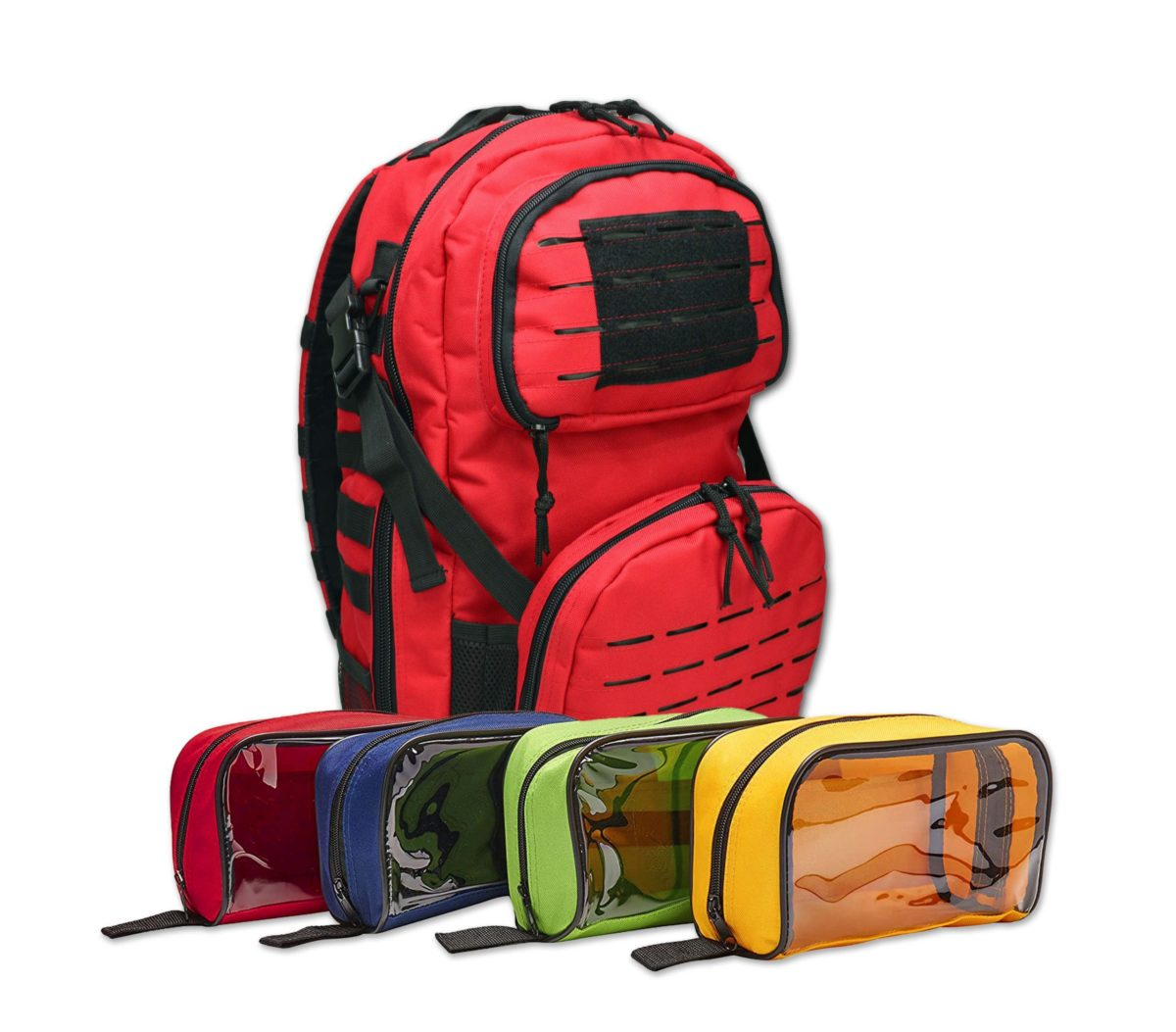 Premium tactical backpack w/ modular pouches & hydration port