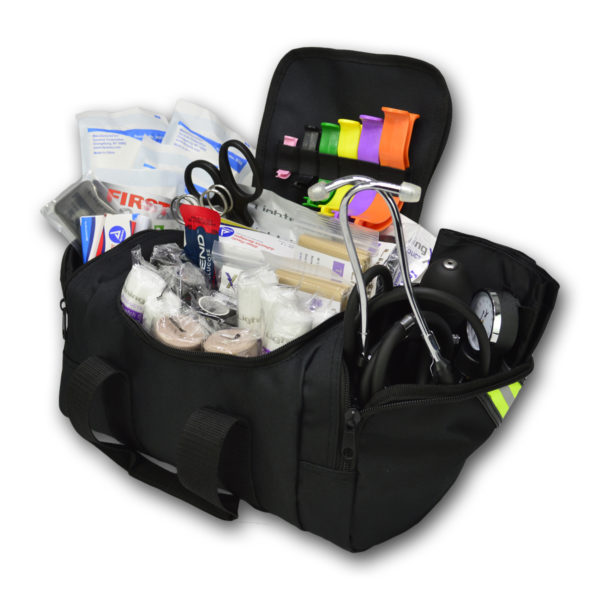Compact First Responder Stocked Trauma Bag w Fill Kit B
